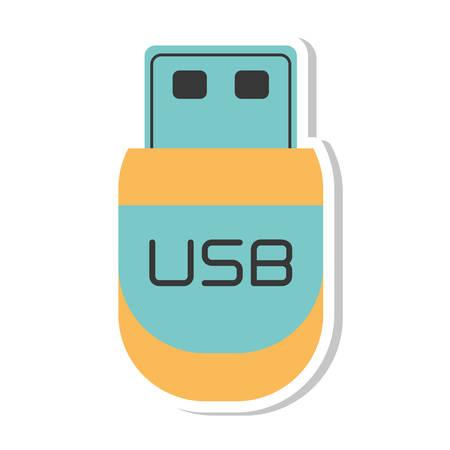storage device: usb storage device isolated icon vector illustration design