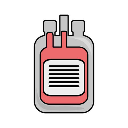 donor blood type: donate blood bag isolated icon vector illustration design