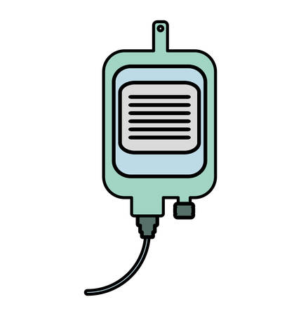 chemotherapy: iv bag medical isolated icon vector illustration design