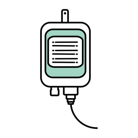 bag icon: iv bag medical isolated icon vector illustration design