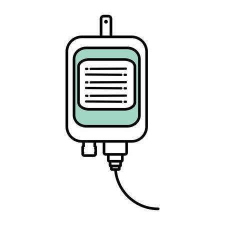 iv bolsa de médico aislado icono de vector de diseño Ilustración de vector