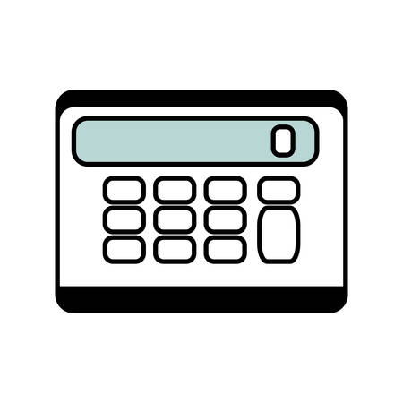 math icon: calculator math isolated icon vector illustration design