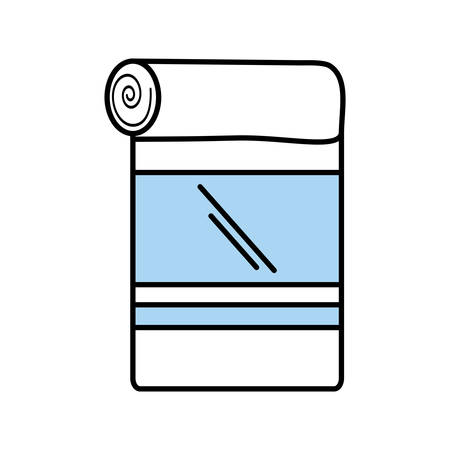 laundry care: towel spa isolated icon vector illustration design