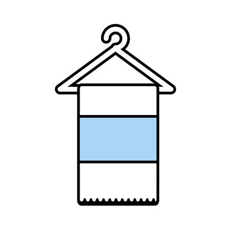 laundry care symbol: towel spa isolated icon vector illustration design