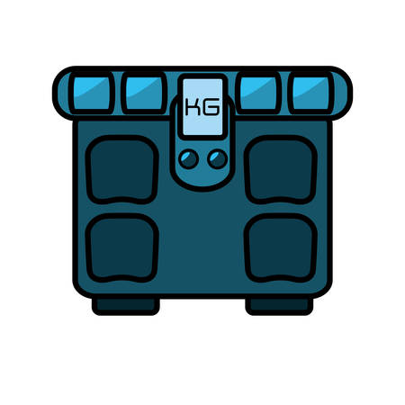 gym equipment: scale balance gym equipment icon vector illustration design