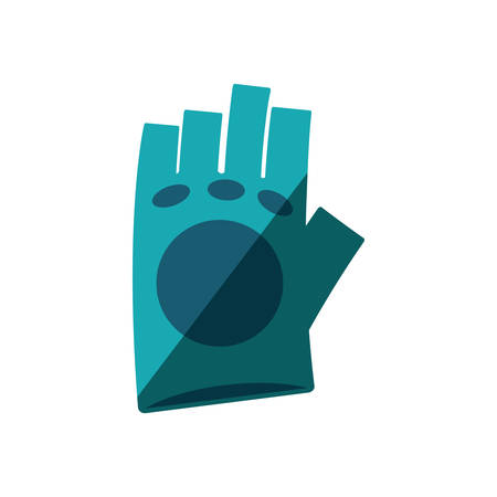 gym equipment: gloves gym equipment isolated icon vector illustration design