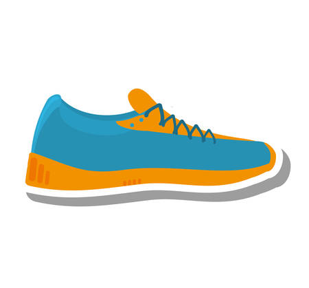 tennis shoes: tennis shoes sport isolated icon vector illustration design