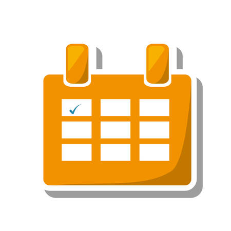calendar reminder mark day isolated icon vector illustration design