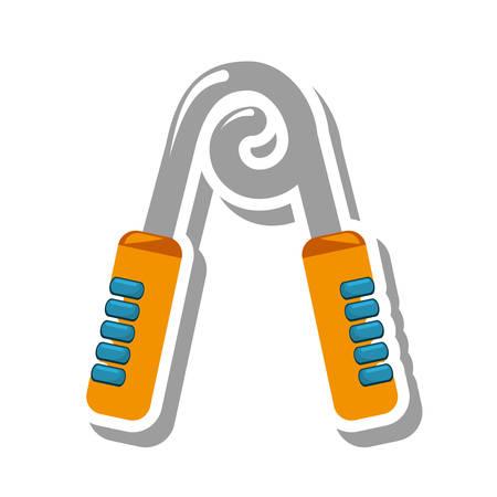 gripper: gripper gym equipment icon vector illustration design