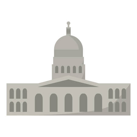 government building of america vector illustration design