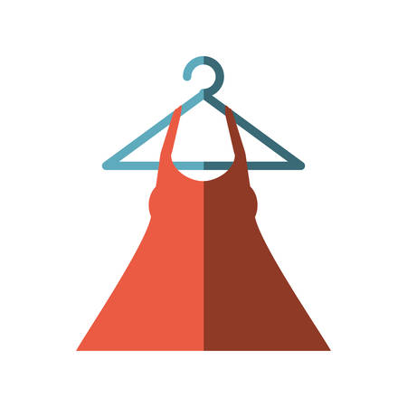 hanging woman: woman blouse hanging on hook vector illustration design