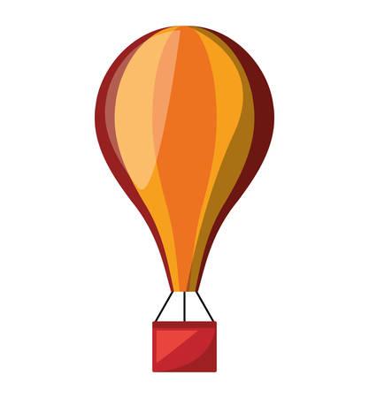 balloon air hot fly isolated icon vector illustration design Illustration