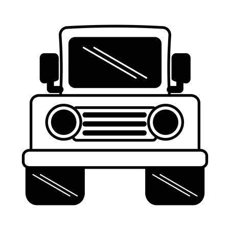 jeep: jeep vehicle transport isolated icon vector illustration design