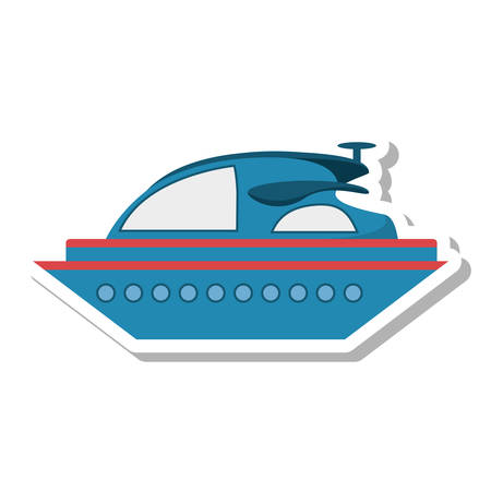 barque: yacht luxury transport isolated icon vector illustration design Illustration