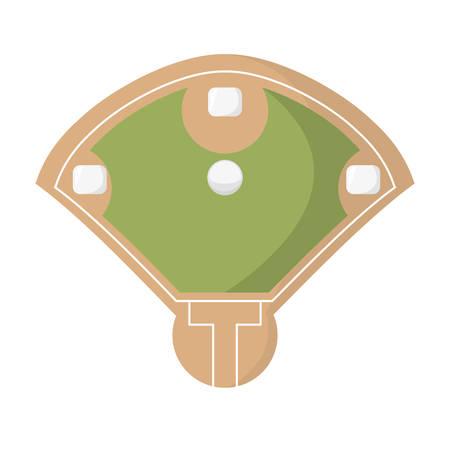diamond camp baseball icon vector illustration design
