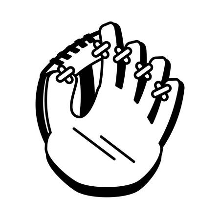 baseball catcher: baseball catcher glove isolated icon vector illustration design