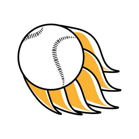 baseball ball equipment isolated icon vector illustration design Illustration