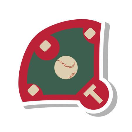 baseball diamond: diamond camp baseball icon vector illustration design