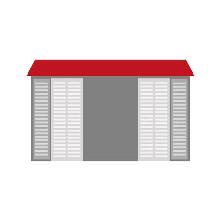 warehouse building: warehouse building logistic icon vector illustration design