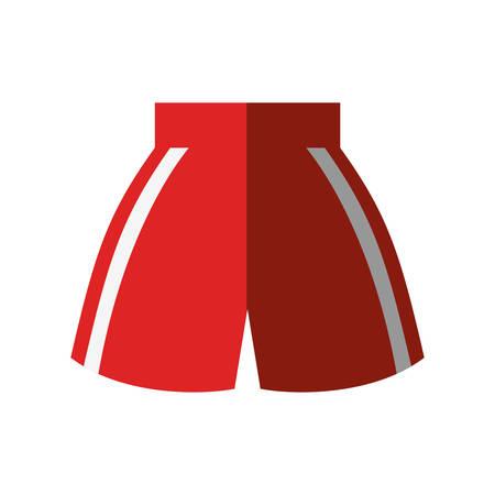 boxing shorts uniform isolated icon vector illustration design