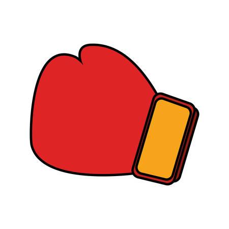 glove boxing equipment isolated icon vector illustration design
