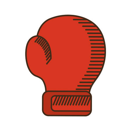 strong box: glove boxing equipment isolated icon vector illustration design