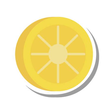 citrus fruit: lemon citrus fruit isolated icon vector illustration design