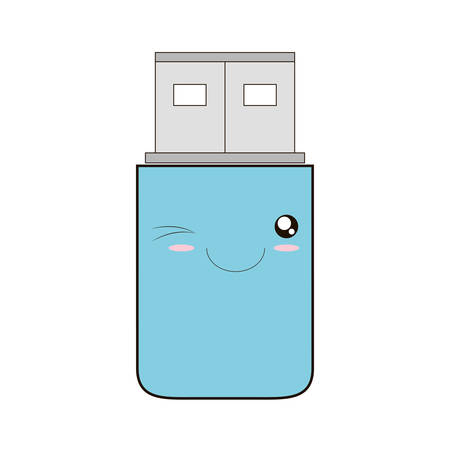 usb memory: usb memory storage isolated icon vector illustration design