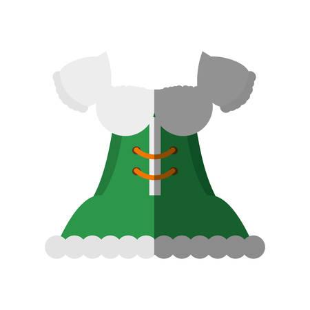 design costume: German traditional female costume vector illustration design