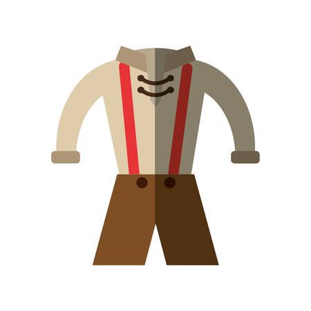 bavarian culture: German traditional male costume vector illustration design