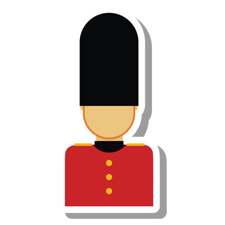 buckingham: england soldier isolated icon vector illustration design Illustration