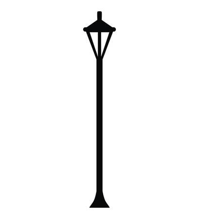 streetlamp: england lantern park classic isolated icon vector illustration design
