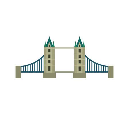 bristol: Classic British bridge icon vector illustration design