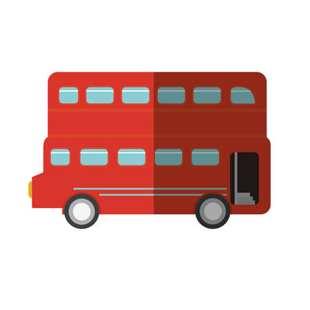 london bus transport service icon vector illustration design