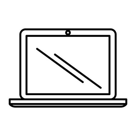 portable: laptop computer portable device isolated icon vector illustration design