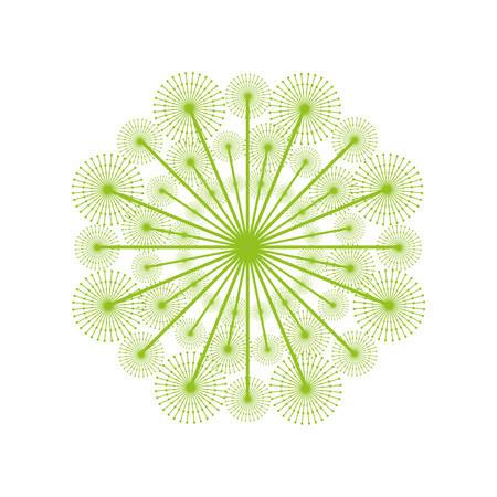 semillas de diente de león icono de la decoración ilustración vectorial de diseño