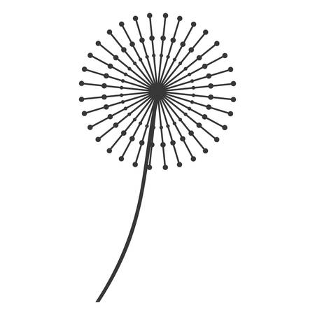 plant delicate: dandelion seed decoration icon vector illustration design