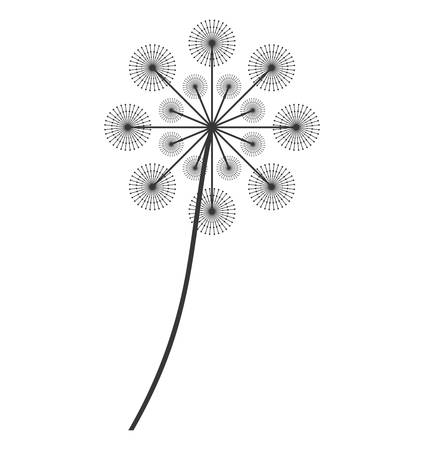flowers fluffy: dandelion seed decoration icon vector illustration design