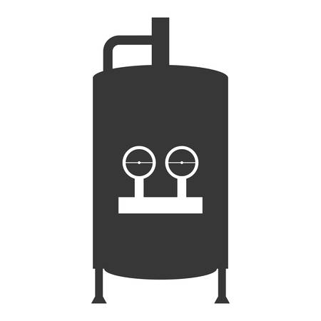 heater: water heater tank icon vector illustration design