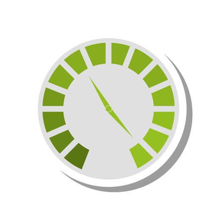 pressure gauge device icon vector illustration design