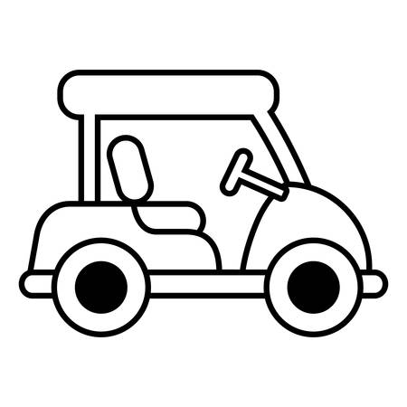 golf cart: golf cart isolated icon vector illustration design