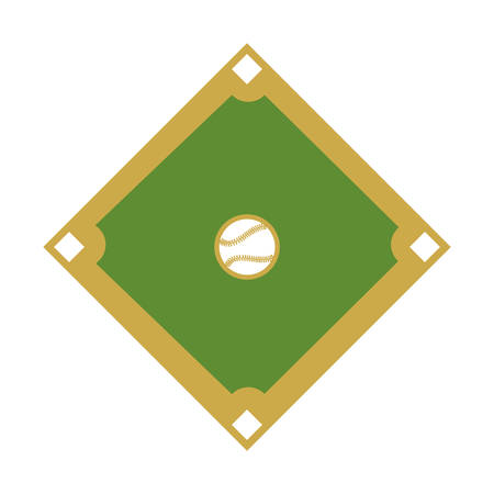 camp diamant honkbal sport vectorillustratieontwerp