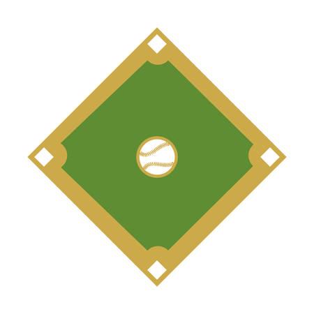 campo de diamante deporte del béisbol ilustración vectorial de diseño