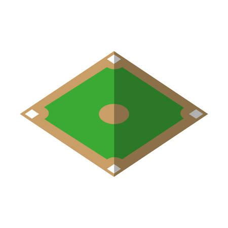 baseball diamond: camp diamond baseball sport vector illustration design