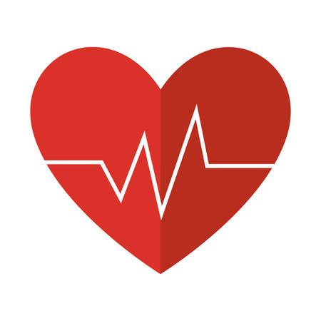 cardiograph: heart with cardio pulse vector illustration design Illustration