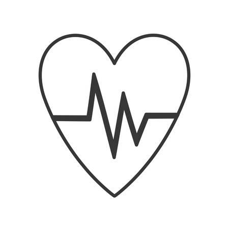 cardio: heart with cardio pulse vector illustration design Illustration