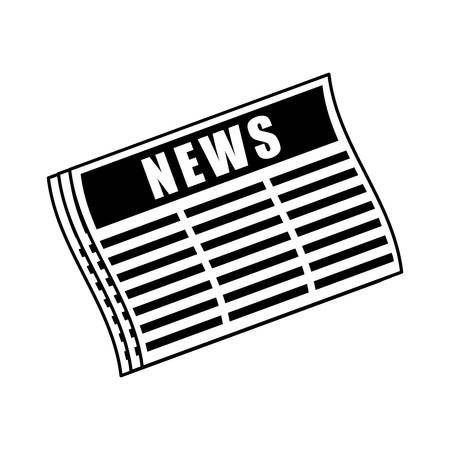 newsprint: news paper information isolated icon vector illustration design