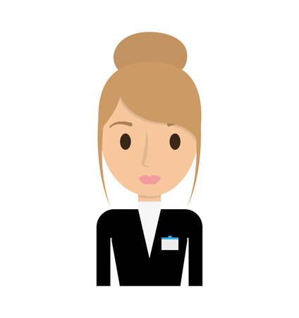 receptionist: hotel receptionist worker avatar vector illustration design