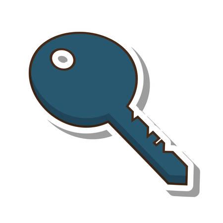key door isolated icon vector illustration design