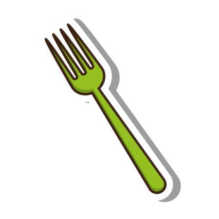 serving utensil: fork cutlery tool isolated icon vector illustration design Illustration